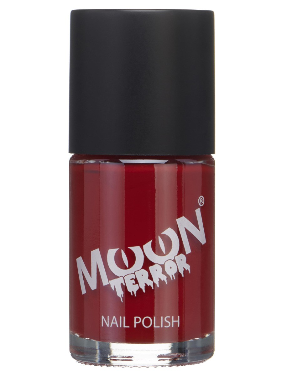 Moon Terror Halloween Nail Polish Red