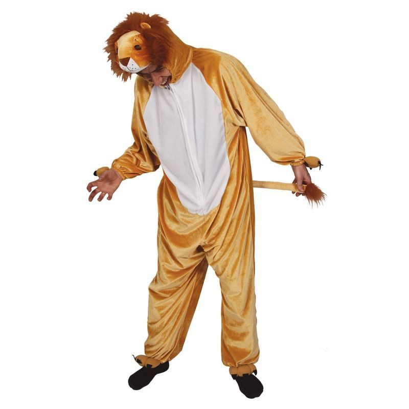 Lion ( Adult One Size) Fancy Dress (Animals)
