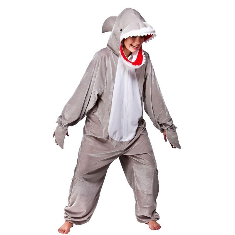 Adult Unisex Shark Animal Outfit - One Size (Grey)