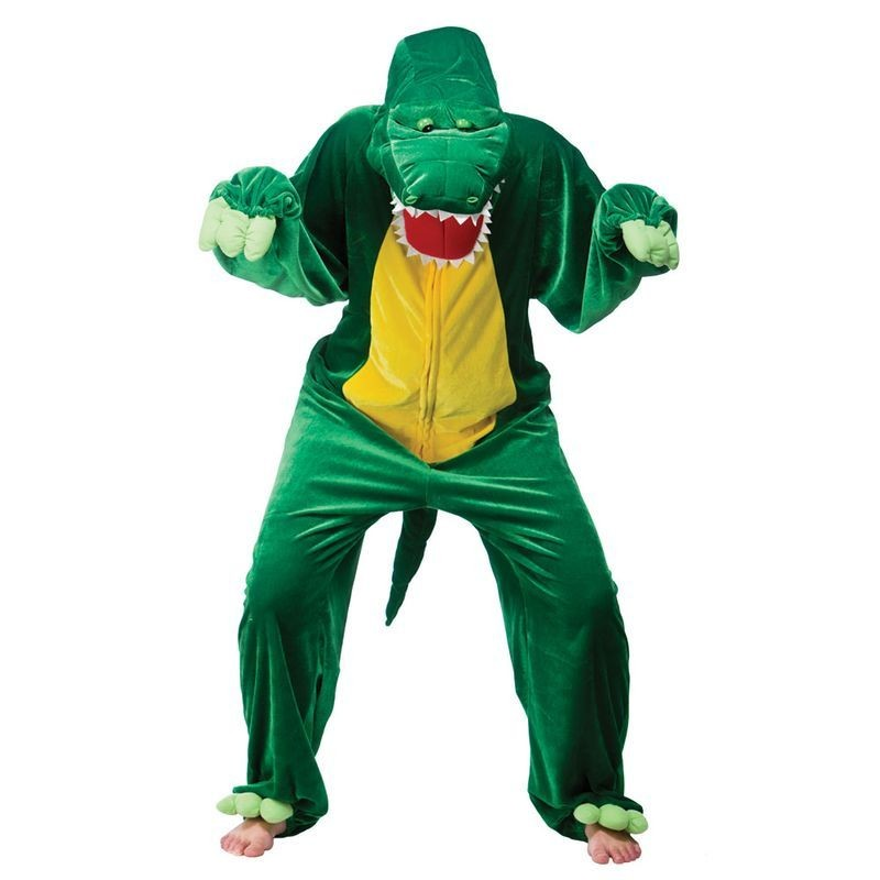Adult Unisex Crocodile Animal Outfit - One Size (Green)