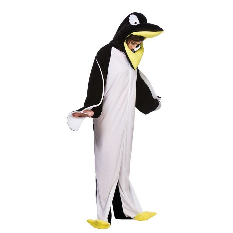 Adult Unisex Penguin Animal Outfit - One Size (Black/White)