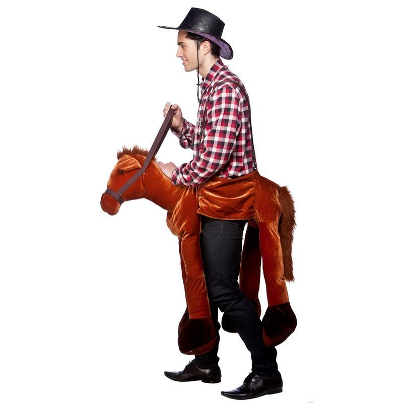 Adult Unisex Ride On Horse Animal Outfit - One Size (Brown)