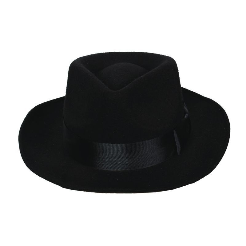 Classic Gangster Hat With Satin Band Fancy Dress