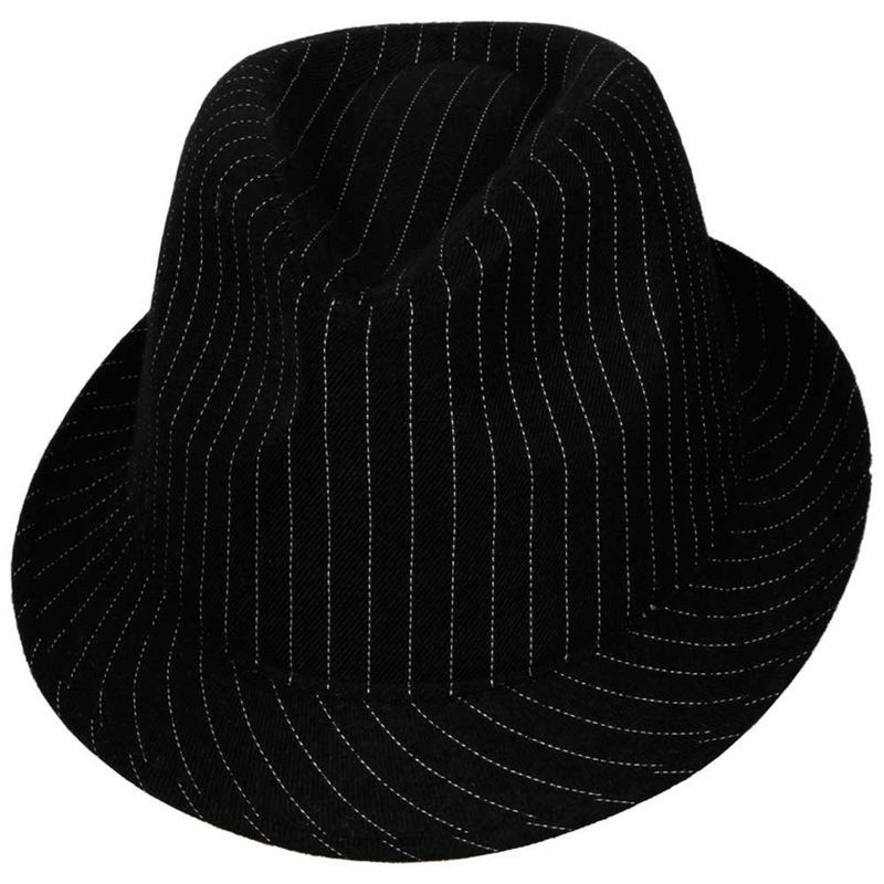 Fedora - Black With Pinstripe Fancy Dress