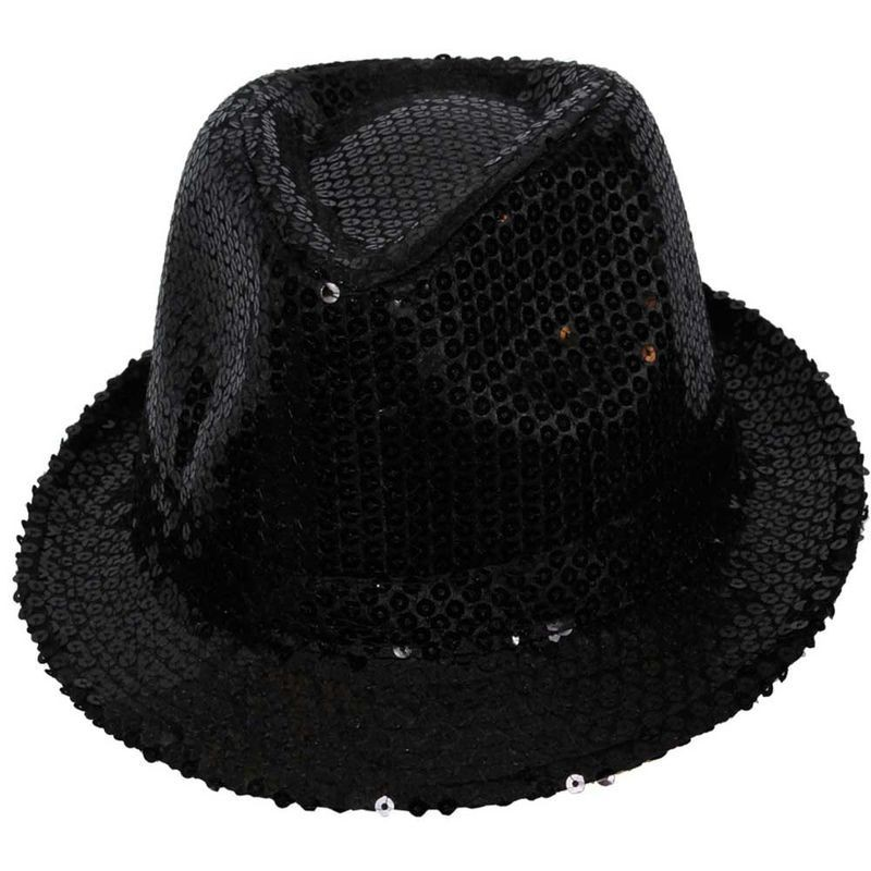 Fedora - Black Sequined Fancy Dress