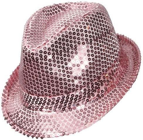 Fedora - Baby Pink Sequined Fancy Dress
