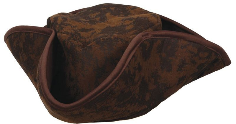 Caribbean Pirate Hat - Brown Fancy Dress (Pirates)