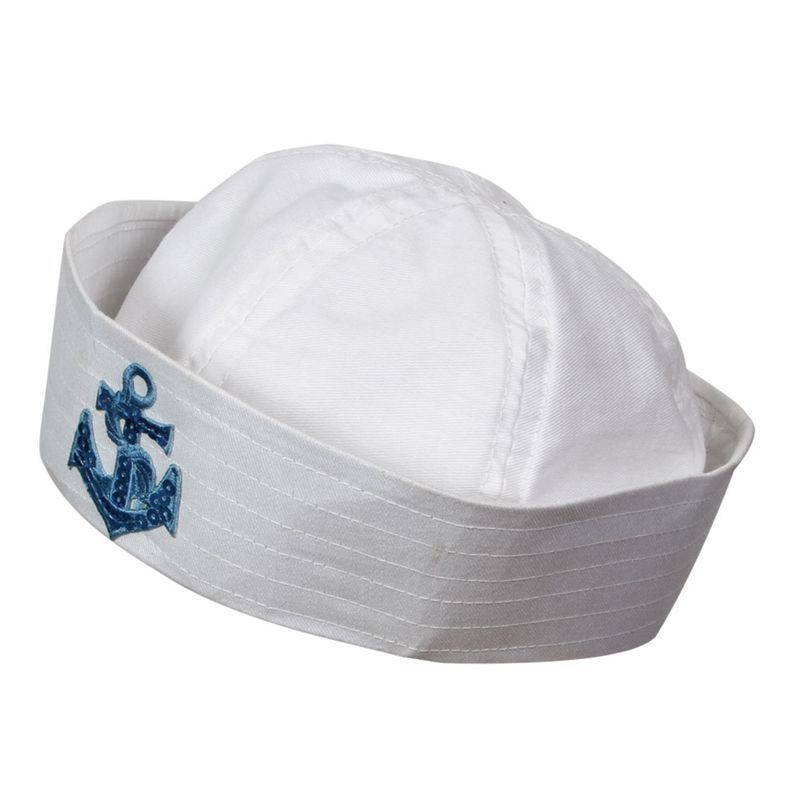 Sailor Doughboy Hat - With Emb Anchor Fancy Dress (Sailor)