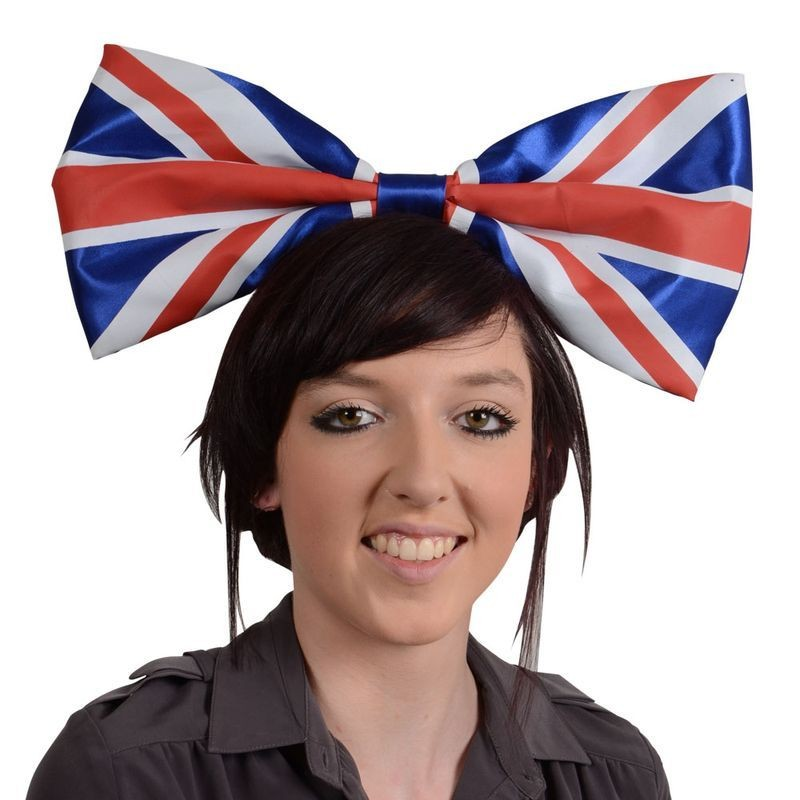 Adult Unisex G.B Giant Bow With Headband Hats - (Red, White, Blue)