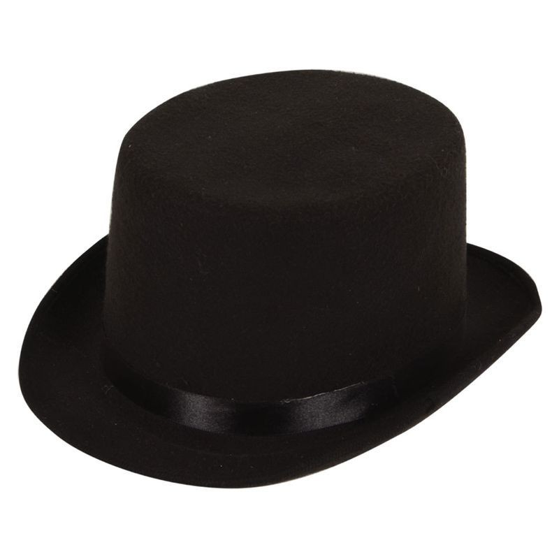 Mens Top Hat (High Quality Indestructable) Hats - (Black)