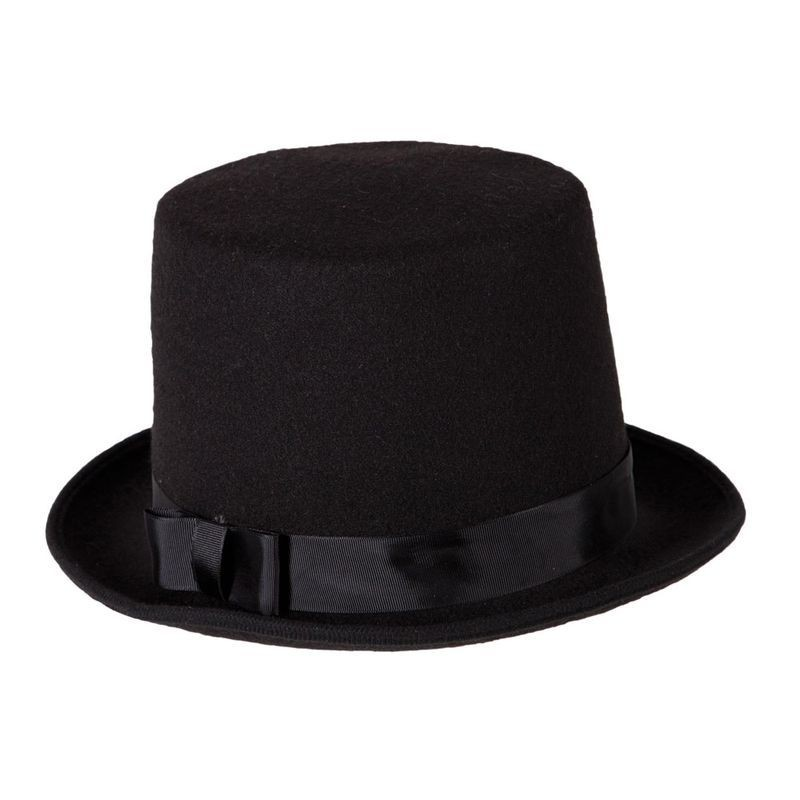 Mens Deluxe Stovepipe Hat / Perfect Fit Hats - (Black)