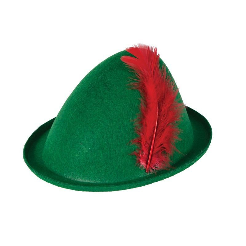 Mens Robin Hood / Peter Pan Hat Hats - (Green)