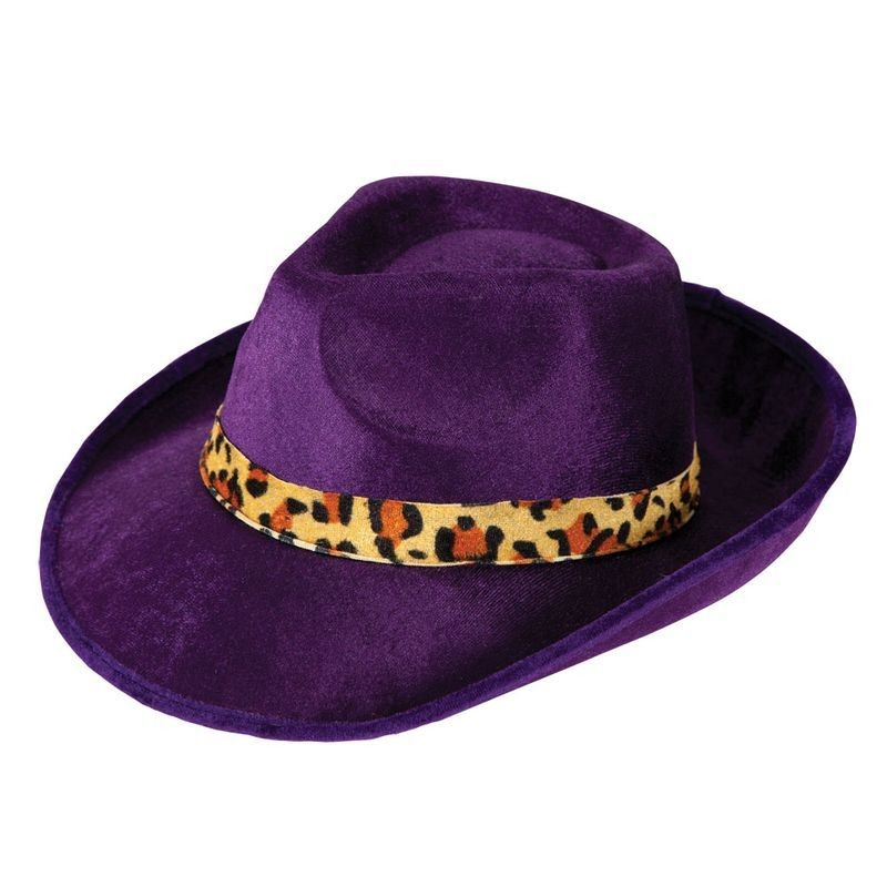 Mens Pimp Hat Hats - (Purple)