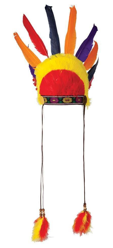 Mens Native Indian Headress Fancy Dress Accessory