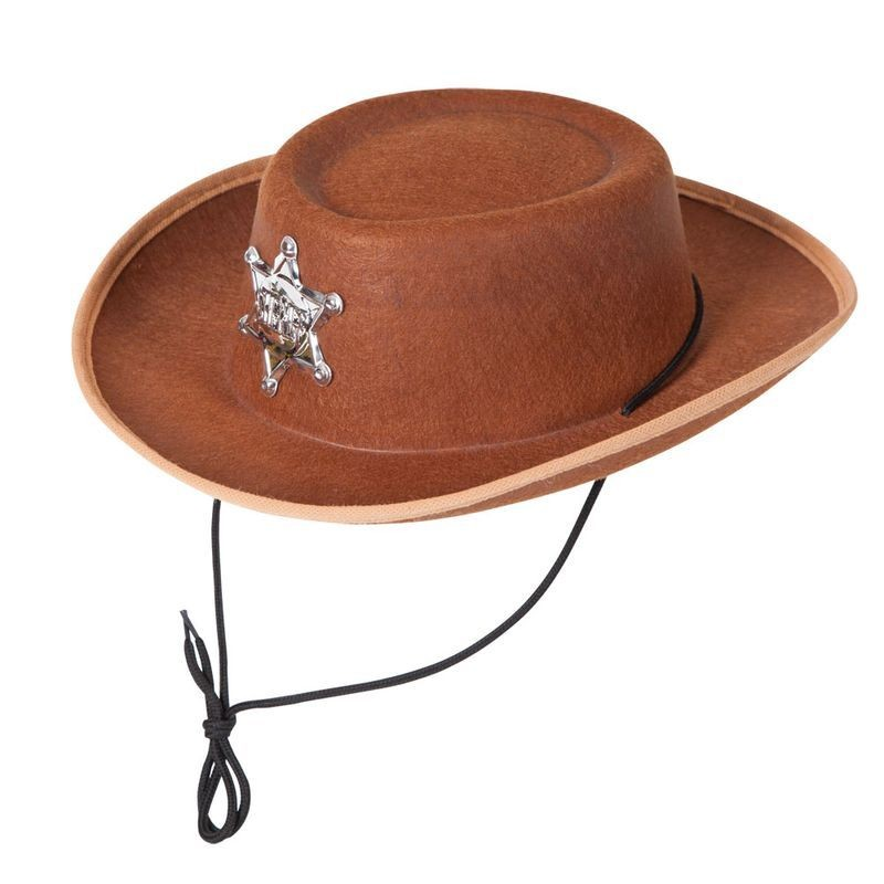 Boys Cowboy Hat - Kids Hats - (Brown)