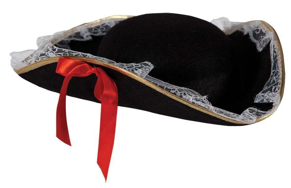 Ladies High Seas Tri Corn Pirate Hat Fancy Dress Accessory