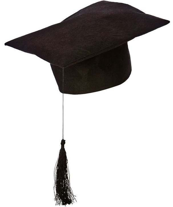 Black Adult'S Teachers Hat Fancy Dress Accessory