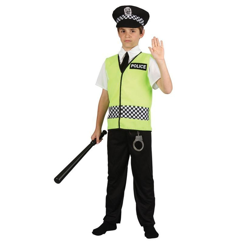 Boys Policeman Cops/Robbers Outfit - (Green, Black)