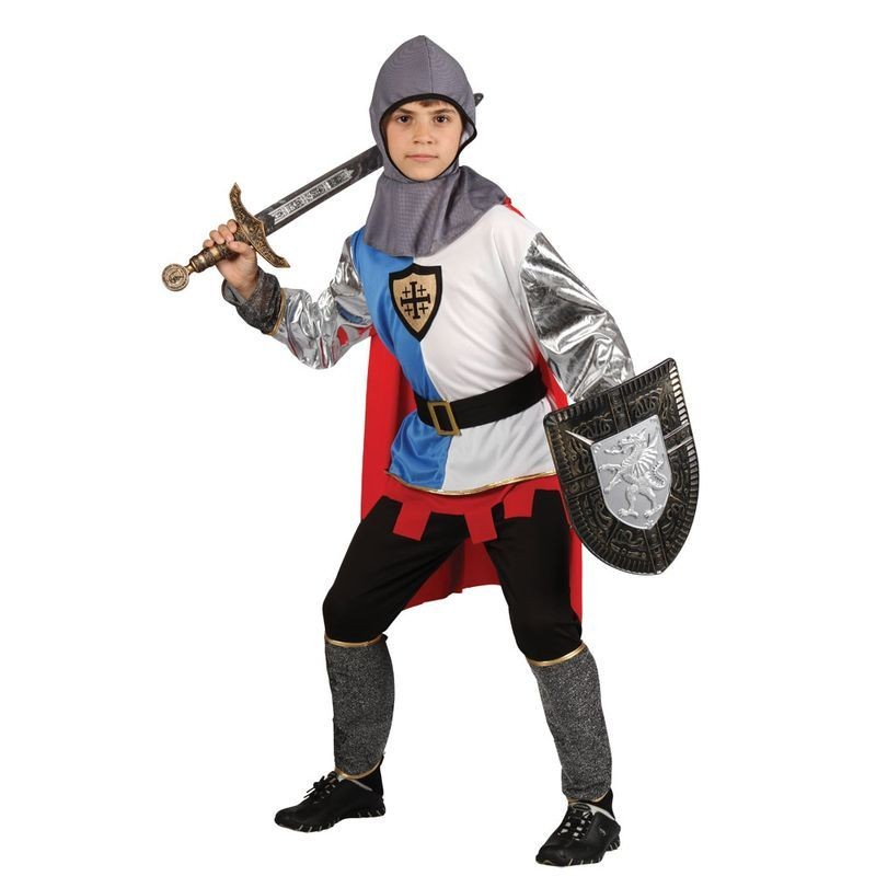 Boys Knight Of The Realm Medieval Outfit - (Multicolour)