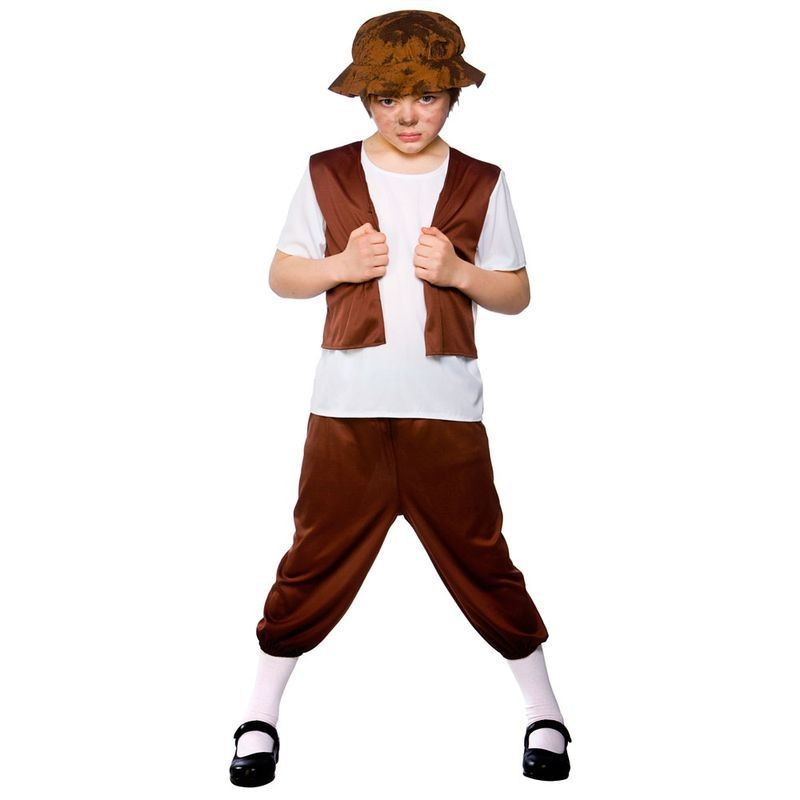 Boys Tudor Boy Tudor Outfit - (Brown)