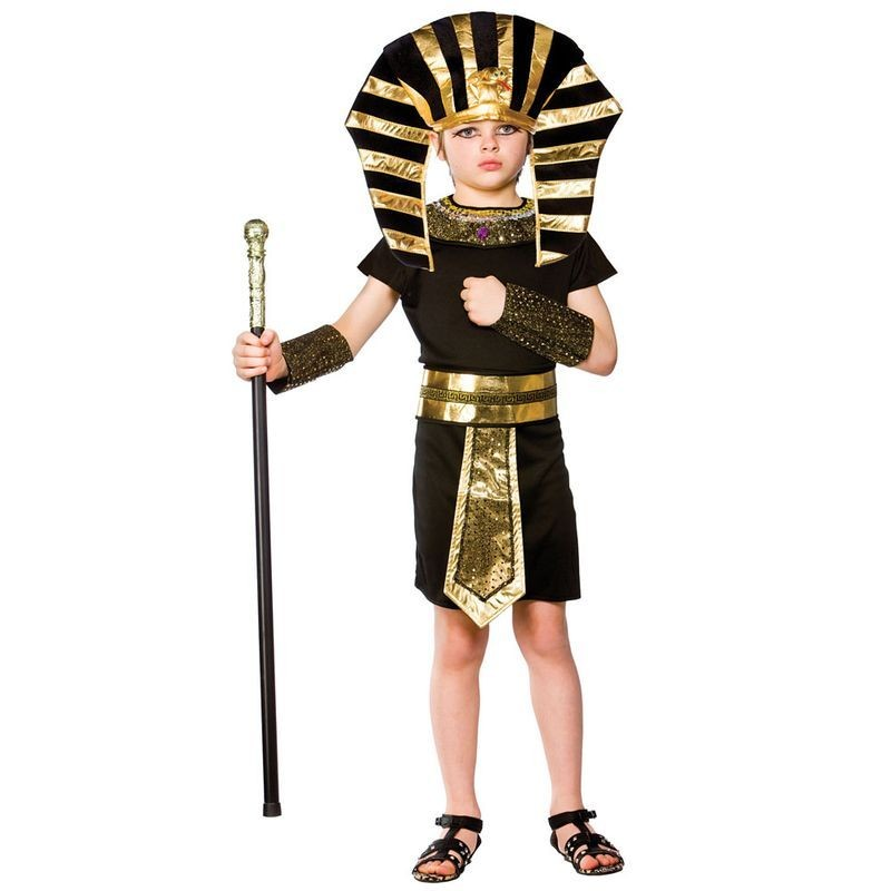 Boys Egyptian Pharaoh Egyptian Outfit - (Black, Gold)