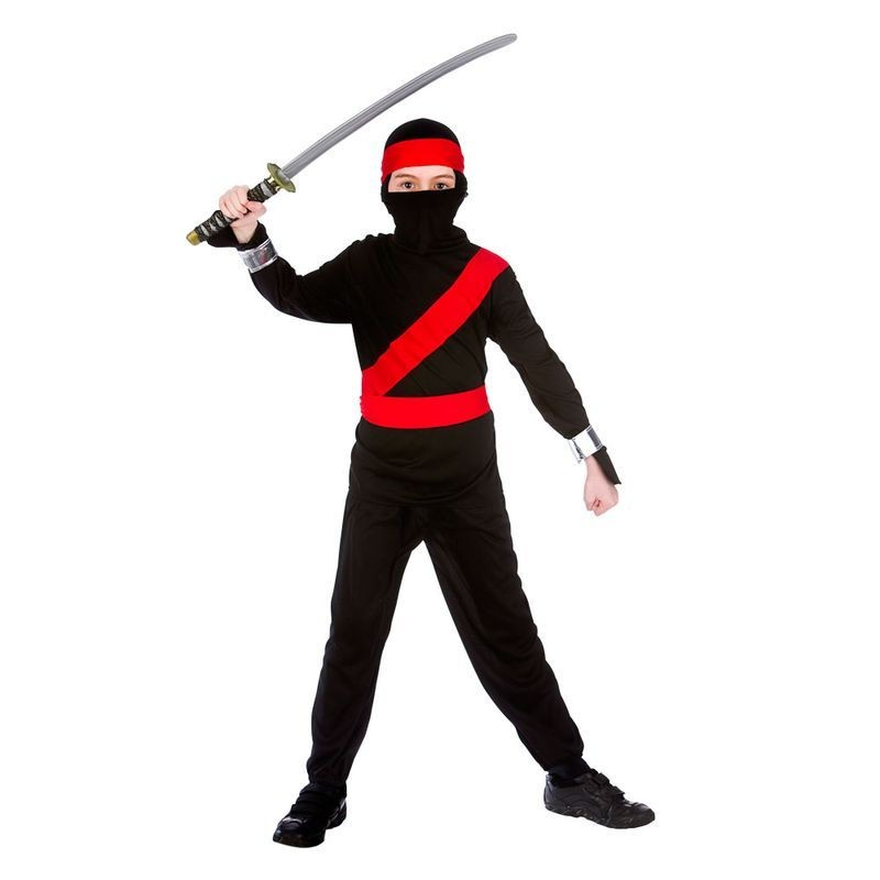 Boys Black Tv Cartoon Charater Ninja Fancy Dress Costume