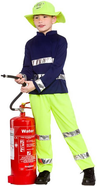 Boy'S Emergency Rescue Fireman Fancy Dress Costume