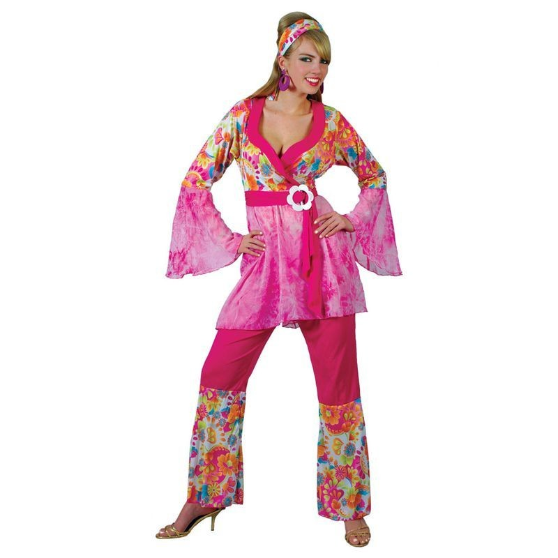 Groovy Hippie Chick Fancy Dress Costume Ladies (1960S)