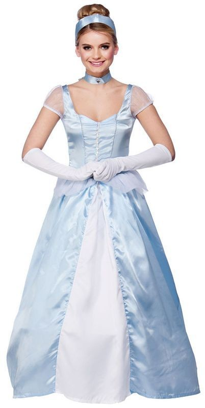Ladies Sweet Cinders Fairy Tales Outfit - (Blue)