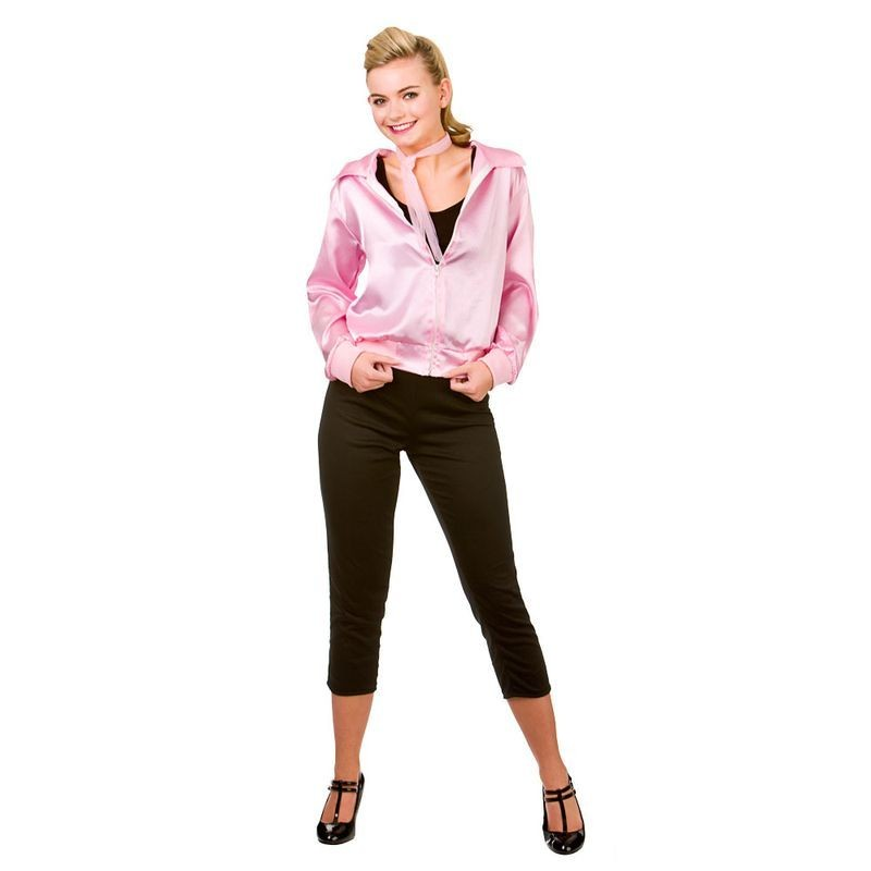 Ladies Pink 50'S Grease Style T Bird Cutie Fancy Dress Costume