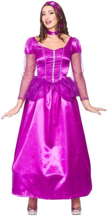 Ladies Purple Sweet Princess Fancy Dress Costume