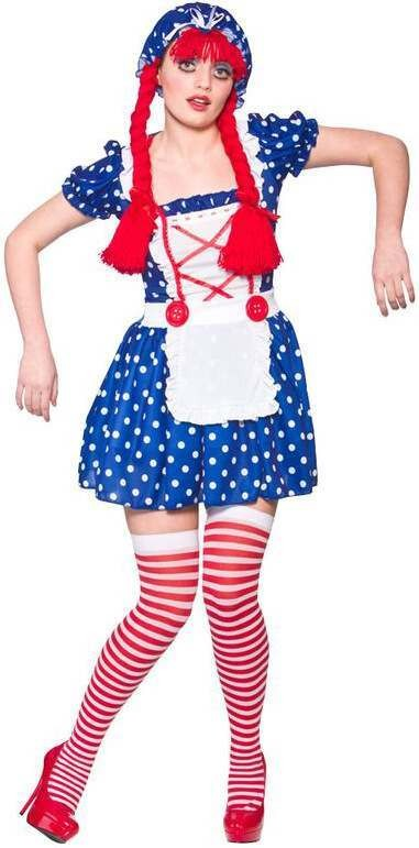 Ladies Cute Rag Doll Fancy Dress Costume