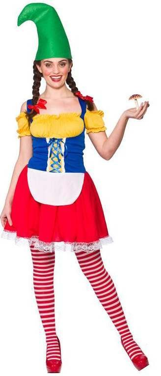 Ladies Cute Gnome Fancy Dress Costume