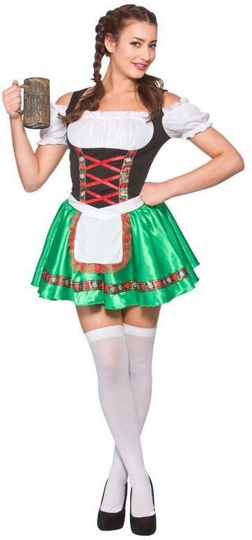 Ladies Oktoberfest Beer Girl Fancy Dress Costume