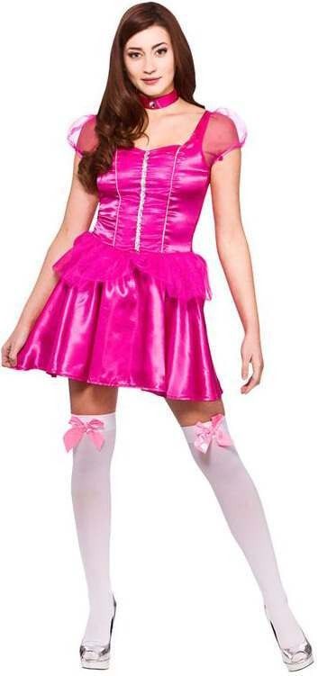 Ladies Pink Darling Princess (Short) Fancy Dress Costume