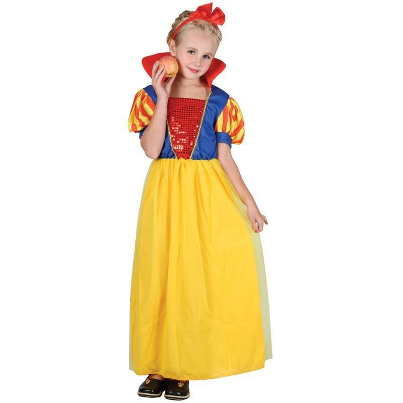 Girls Fairytale Snow Princess Costume (Fairy Tales)