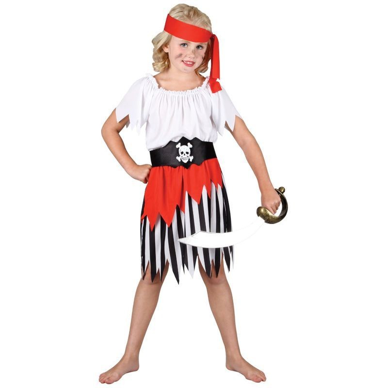 Girls High Seas Pirate Girl Costume (Pirates)