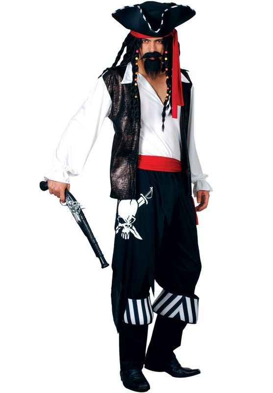 High Seas Buccaneer Fancy Dress Costume Mens (Pirates)