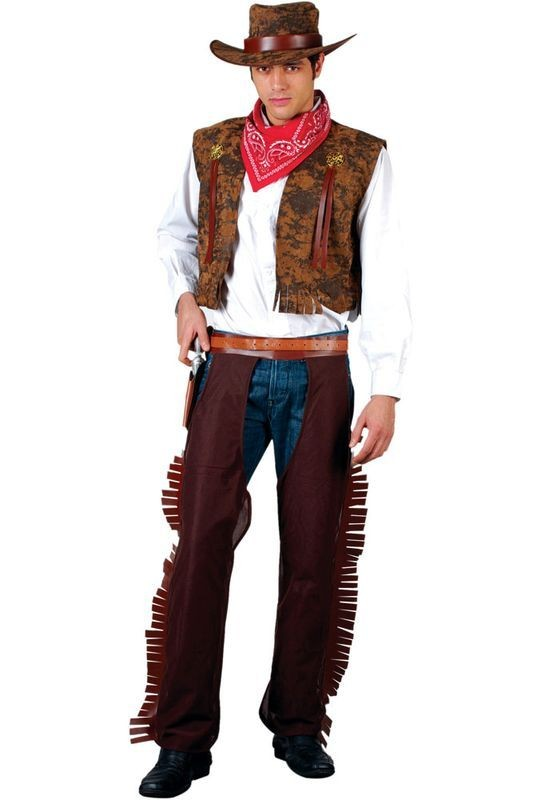 Western Cowboy Fancy Dress Costume Mens (Cowboys/Indians)