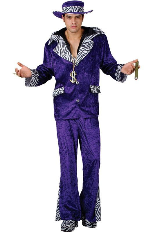 Pimp Daddy - Purple Fancy Dress Costume Mens (Pimp)