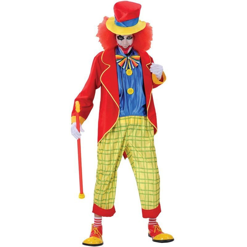 Krazy Clown Fancy Dress Costume Mens (Clowns)