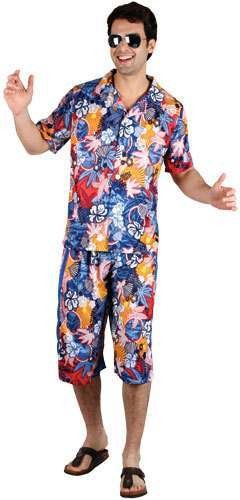 Mens Hawaiian Party Guy Costume Fancy Dress (Hawaiian)
