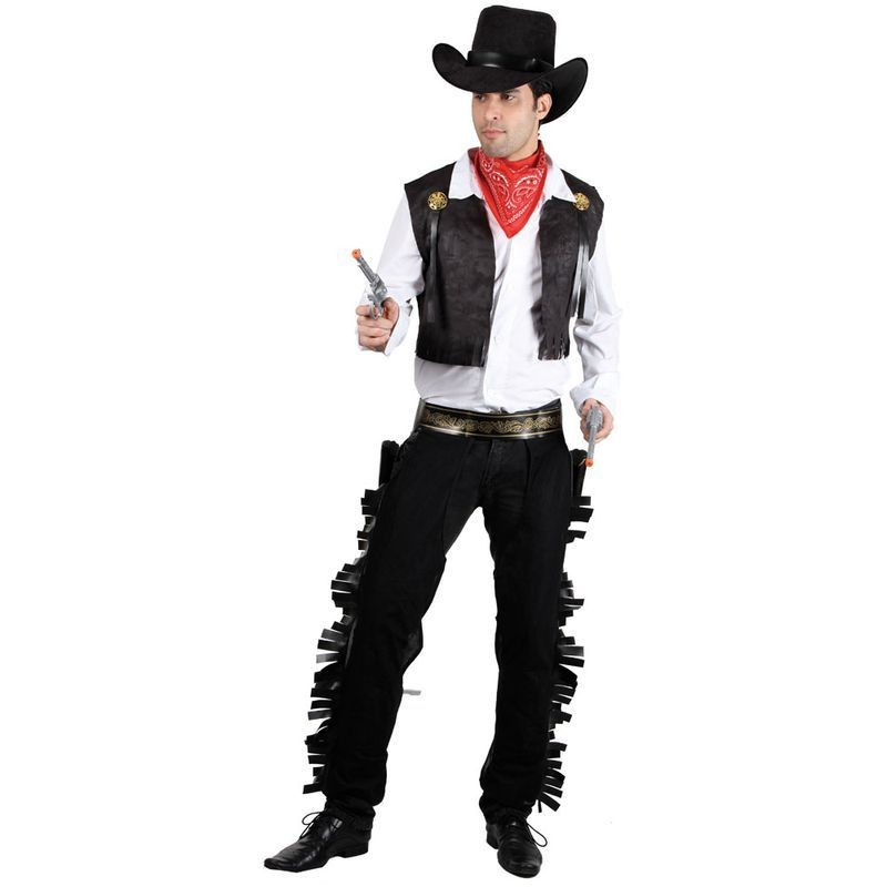 Mens Wild West Cowboy Costume Fancy Dress (Cowboys/Indians)