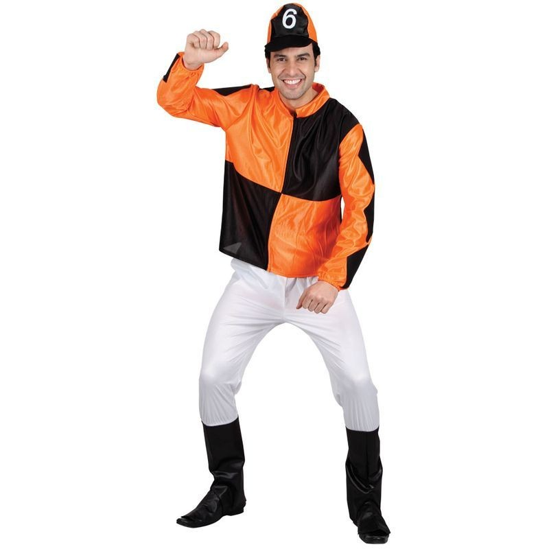 Mens Jumpin Jockey Costume Fancy Dress (Sport)