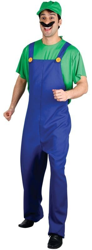 Mens Funny Plumber - Green Costume (Cartoon)