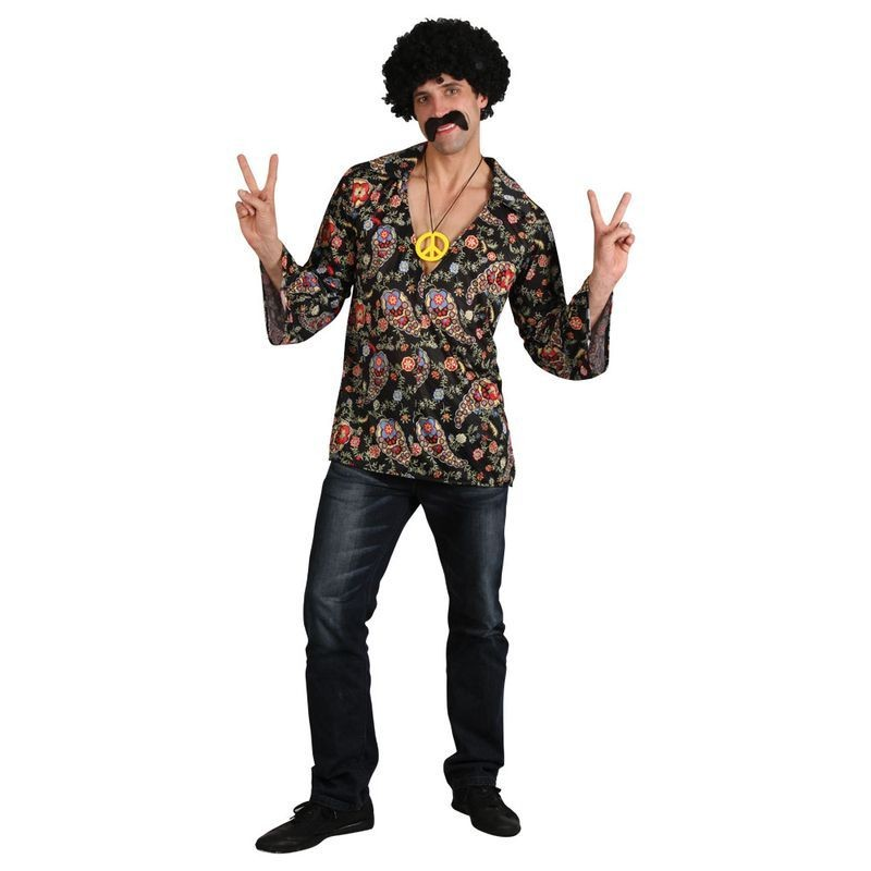 Mens Cool Flower Power Hippie Shirt