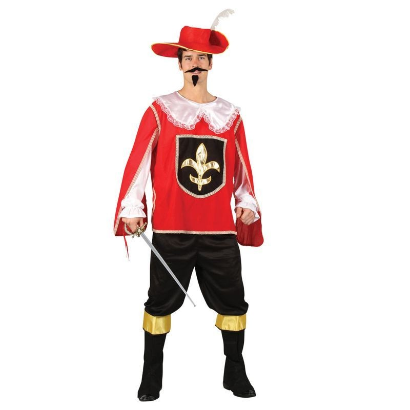 Mens Musketeer - Red Musketeer Outfit (Red)