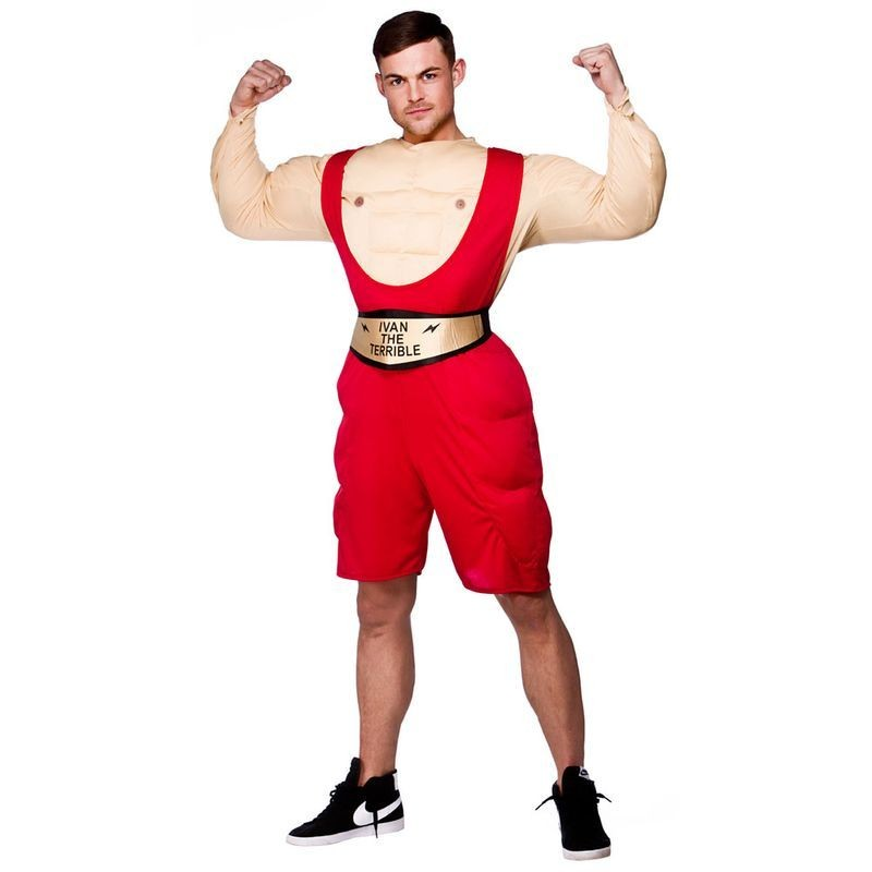 Mens Wrestler Sport Outfit (Red)
