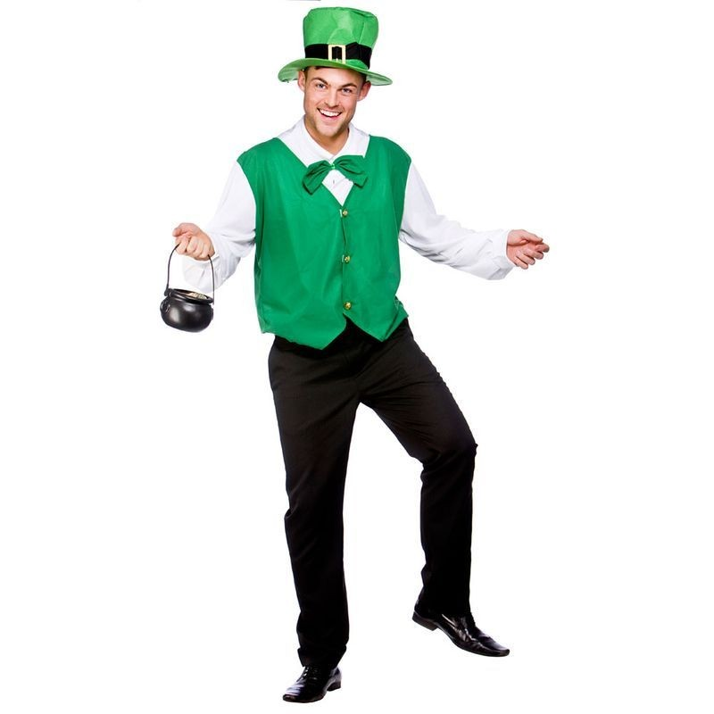 Mens Lucky Leprechaun Folklore Outfit -  (Green)