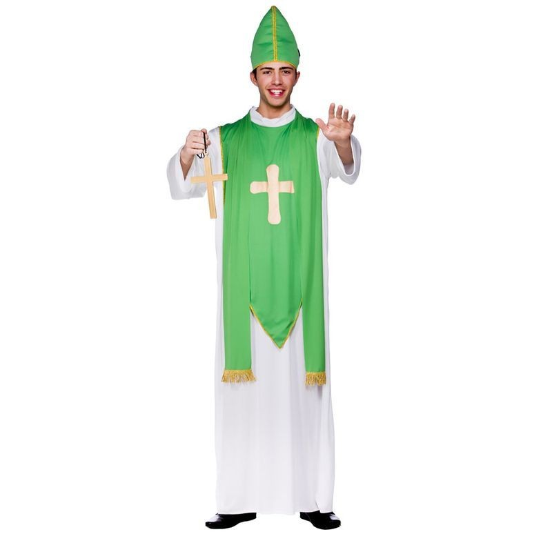 Mens St Patrick Folklore Outfit -  (Green, White)